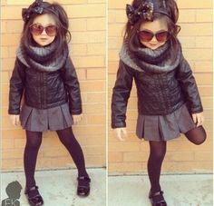 Adorable - minus the sunglasses. I want kids to look like a kids as long as they could.
