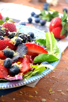 Yellow Watermelon Berry Salad TheHealthyApple.com #glutenfree #recipe #healthy