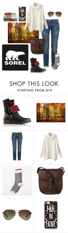 """""""Kick Up the Leaves (Stylishly) With SOREL: CONTEST ENTRY"""" by nikke9doors ❤ liked on Polyvore featuring SOREL, rag & bone, DUBARRY, Ralph Lauren, Casetify, Toast and sorelstyle"""