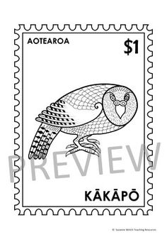 New Zealand Birds – Postage Stamps - Black and White Kiwiana, Cultural Identity, Classroom Resources, Book Lists, Postage Stamps, New Zealand, Australia, Birds, Messages