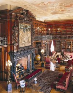 The Library in Biltmore House holds approximately 10,000 of Vanderbilt's more than 23,000 volumes.