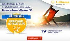 Chi legge vola by #Feltrinelli: buono sconto #Lufthansa da 20 euro