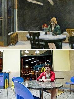 """""""Automata"""", Edward Hopper - remake by Or Eitan"""