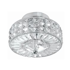 @Overstock - This six-light semi-flush mount fixture offers warm illumination to any indoor living space. This light fixture is designed with clear, hand-polished crystals and a polished chrome finish for a touch of endearing style.http://www.overstock.com/Home-Garden/Chelsea-3-light-Polished-Chrome-Finish-Semi-flush-Mount/5730013/product.html?CID=214117 $208.99