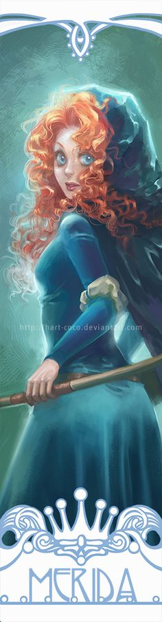 Disney Princesses Bookmarks: Merida by hart-coco on @DeviantArt