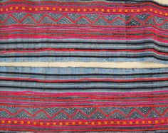 Handprinted Batik Cotton Hmong Vintage style by dellshop