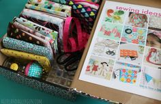 Kids sewing kit - something to start your child's sewing career on, what a great idea!