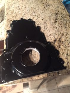 LS front timing cover powder coated