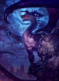 Purple Dragon~LhuneArt
