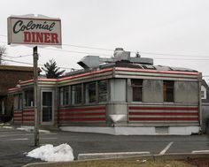 my childhood diner :) Colonial in Lyndhurst, NJ--I always got a grilled cheese with bacon sandwich (Repinner's note: I loved the cheese omelets.)
