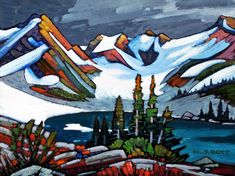 """Coast Mountain Glacial,"" by Nicholas Bott - oil Cool Paintings, Cool Artwork, Mini Paintings, Landscape Art, Landscape Paintings, Smart Art, Mountain Art, Mountain Paintings, Canadian Artists"