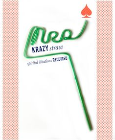 Personalized @KrazyStraws1961 via @mrs_lilien are a great idea for party favors!