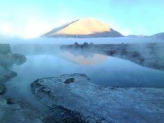 Serenity before the crowds descended... El Tatio geyser field, San Pedro de Atacama, Chile