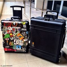 What do you say: stickers or no stickers? #PelicanProducts #travel #luggage