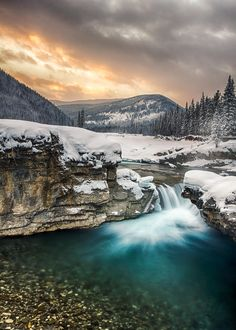Elbow Falls, Bragg Creek, Kananaskis, Alberta, Canada by Chris Greenwood