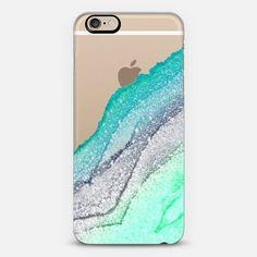 FLAWLESS SEAFOAM FAUX GLITTER by Monika Strigel iPhone 6 case by Monika Strigel | Casetify