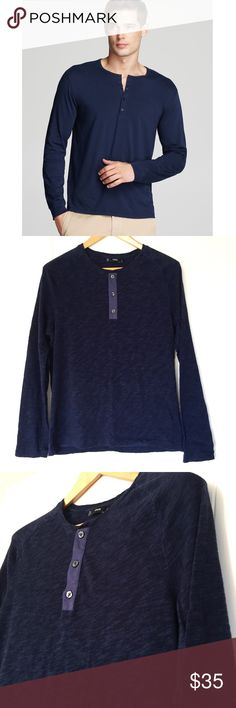 new | vince. | men's navy longsleeve henley Men's Navy Vince Henley  ▫️Excellent condition  ▫️Size Medium   •Please ask all questions before purchasing.  •No Trades/Modeling/Low-Balling •All Reasonable Offers Considered •15% Disc on 3+ Item Bundles Vince Shirts Tees - Long Sleeve
