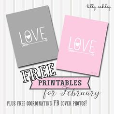 Make it Create by LillyAshley...Freebie Downloads: Free Valentine Printables (Plus freebie FB Covers)