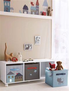Casitas para decorar habitación infantil. Un clásico que nos encanta.