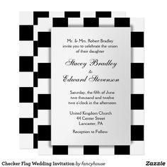 Checker Flag Wedding
