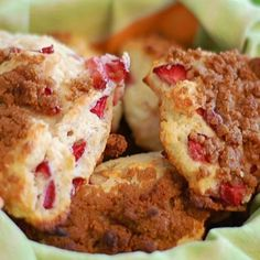 Strawberry-Sour Cream Scones With Brown Sugar Crumble