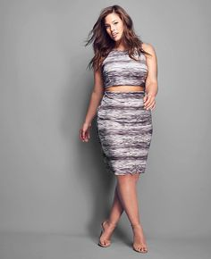 cae776235df My Beyond by Ashley Graham for  DressBarn crop top and skirt is available!  Sizes
