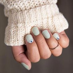 Top Design for Evil Eye Nails 2018 - Reny styles Minimalist Nails, Cute Nails, Pretty Nails, Evil Eye Nails, Mint Nails, Mint Nail Art, Nagellack Trends, Nails 2018, Gelish Nails