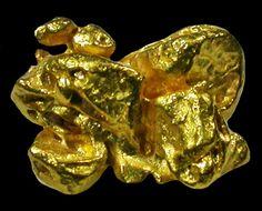 0.56 GRAMS RARE SMALL GOLD CRYSTAL SPECIMEN -VENEZUELA [G26]  venezuela  gold nugget,
