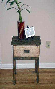 Multi Pallet Nightstand Purpose Used Wood   Pallet Furniture Ideas