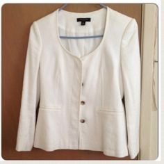 ann taylor • collarless blazer Tailored sleeves. wore for a few hours Ann Taylor Jackets & Coats Blazers