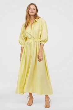 1a32f1c71483 Košeľové šaty - svetložltá - ŽENY