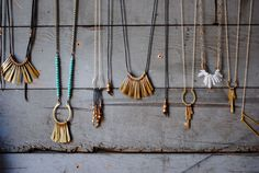 "Interview with boho jewelry designer Marisa Haskell | """"The tiny details make it work, and if they aren't right it doesn't look good,"" the Oakland-based jewelry designer says, as she precisely cuts each strand of leather. In a time of mass reproductions, coming across 100-percent handmade jewelry is rare. But down a whimsical alleyway, Haskell is hard at work perfecting each unique piece."""