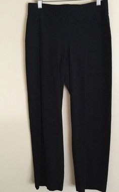 Eileen Fisher Black Ponte Full Leg Lightweight Knit Pants Size Small S | eBay
