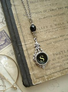typewriter key necklaces
