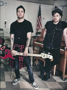Patrick and Pete Rolling Stones photoshoot 2013