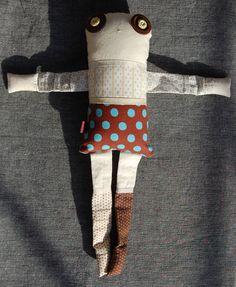 Les jumeaux - Mélilot 3 - poupée de chiffon aimantée - faite à la main à Montréal - 2014 - Anouk Kouri disponible à la Boutique Ciconia, Montréal