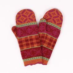 Handschuhe Irmi mango|himbeer