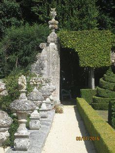 Château de Brécy (14). Terrasse des berceaux
