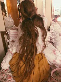 Waist long hair