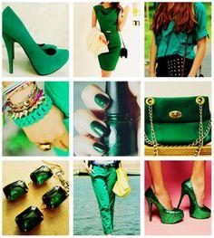 O Inverno 2013 vem recheado de novidades! Uma delas é a cor Verde Esmeralda, que vem com tudo nessa estação. O que acharam fofas?
