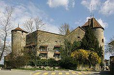 Le château de Morat se trouve dans la ville de Morat en Suisse - Fribourg