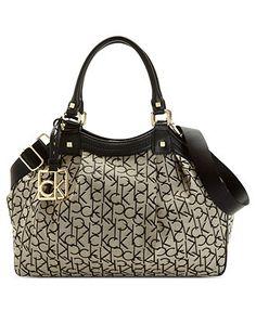 Calvin Klein Handbag, Hudson Signature Satchel - Calvin Klein - Handbags & Accessories - Macy's
