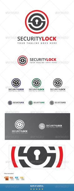 Security Lock Logo Template - Objects Logo Templates
