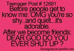 Yep @Sara Eriksson H Johnson it tooks us about 3 minutes to become friends but before that I was prettty darn quiet...