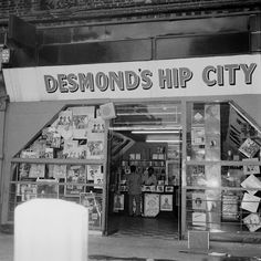 Desmond's Hip City, the first black-owned record shop in Brixton, south London, 1970s