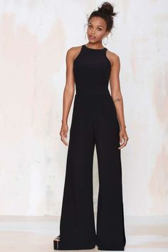 Nasty Gal Side View Palazzo Jumpsuit - Rompers + Jumpsuits | Bottoms