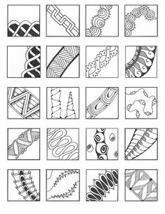 ZENTANGLE PATTERNS linear 11   Flickr - Photo Sharing!