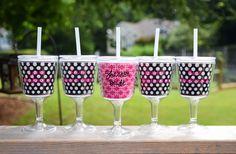 Bride and Bridesmaid Wine Cups