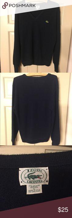 Vintage Lacoste Sweater Navy Blue Vintage Lacoste Sweater Lacoste Sweaters V-Neck