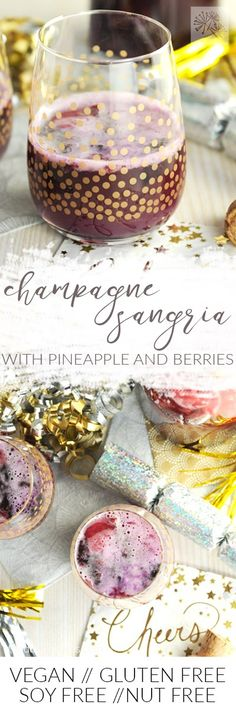 Doesn't Sarah's champagne sangria look perfect for NYE toasting?  via @frieddandelions